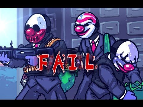 PAYDAY FAIL, A Payday the Heist parody!  Offshore: $999,999 Spendable: $1
