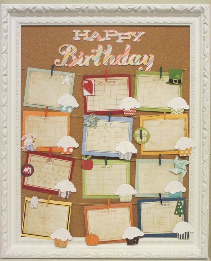 Office Calendar Board : Birthday board scrapbook diy crafts pinterest
