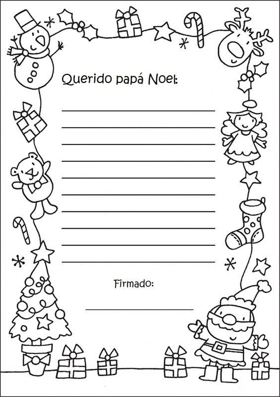Carta a los Reyes Magos y a Papa Noel.Plantillas - enrHedando                                                                                                                                                                                 Más