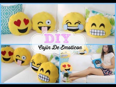 DIY Cojines De Emoticones (sin coser!!) ❤ Ilse Time - YouTube
