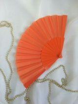 Веер №88, оранжевый /без декора/