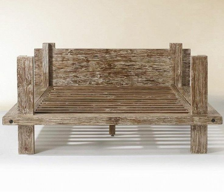 reclaimed wood beds rustic