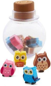 fun office desk accessories. cute and creative erasers owl set of 10 colourful fun office accessories desk