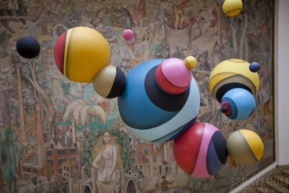 "Jan Kaláb aka ""Point"" Translates His Graffiti Writing into Geometric Spheres…"