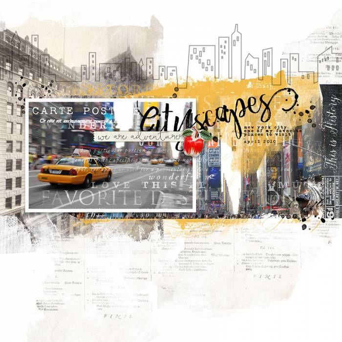 cityscapes New York City scrapbook page #designerdigitals