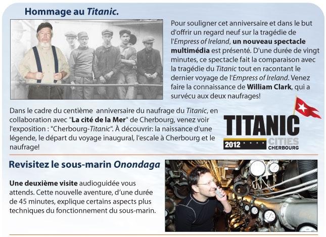 Découvrez l'extraordinaire histoire d'un survivant des naufrages du Titanic et de l'Empress of Ireland  www.tourisme-rimouski.org