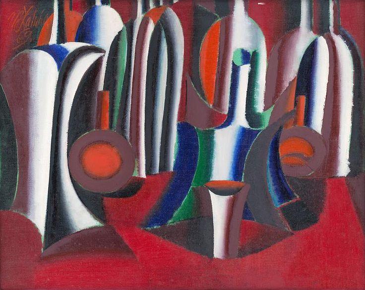 Web umenia | Milan Laluha - Zátišie s fľaškami