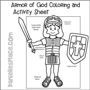 printable armor of god coloring pages - 19 best armor of god bible crafts images on pinterest