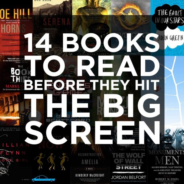 14 books to read before they hit the big screen gotta pin this, lots of them are on my mental list of books to read, and I don't want to forget them -divergent <4 and City of Bones