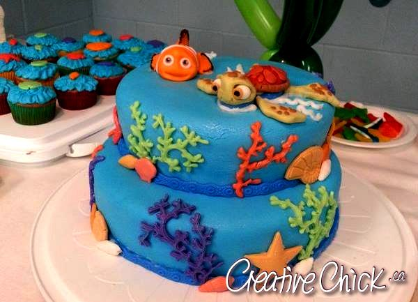 A Friend And I Collaborated On This Finding Nemo Baby Shower Cake! She Did  The