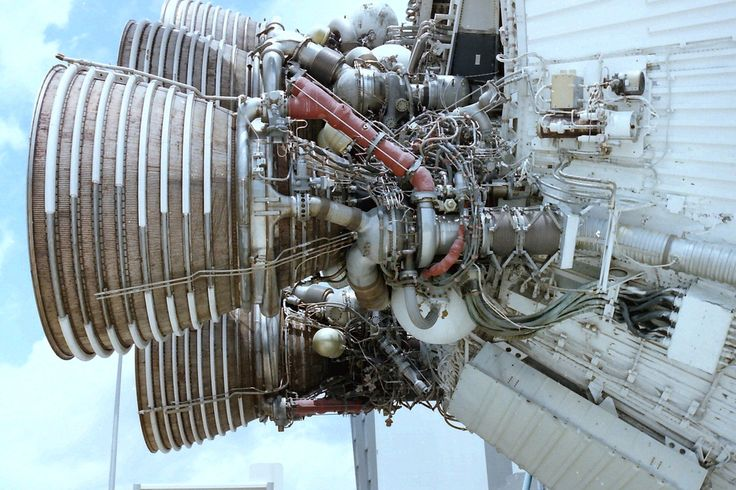 Saturn V, engines & nozzle skirt