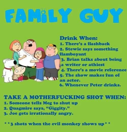 Best 25+ Family Guy Drinking Game Ideas Only On Pinterest
