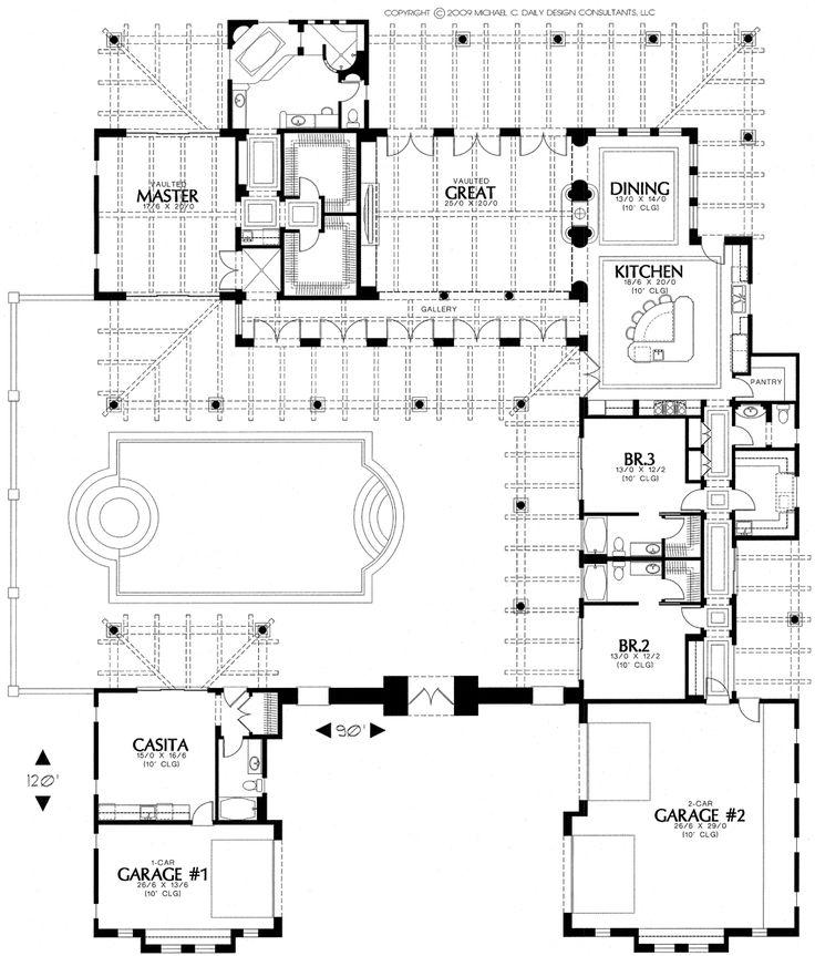 31d9327bec96a9ae49e3d1b97b422f48 tuscan house plans colonial house plans best 20 courtyard house plans ideas on pinterest,Courtyard Style Home Plans