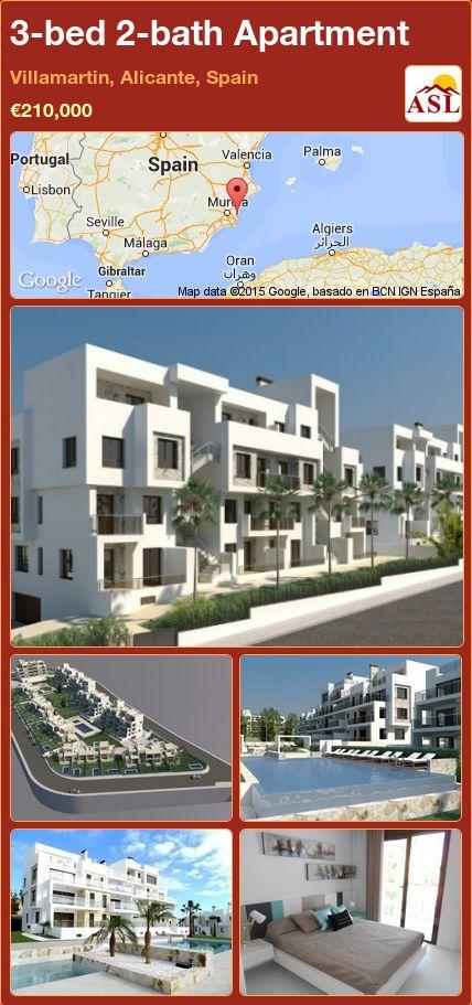3-bed 2-bath Apartment in Villamartin, Alicante, Spain ►€210,000 #PropertyForSaleInSpain