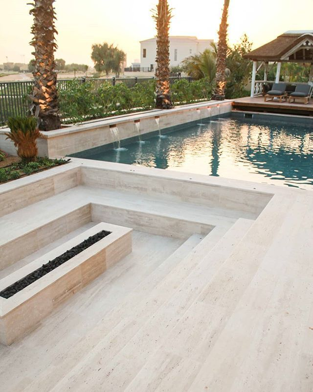 Sunken Seating Area Overlooking The Pool The Perfect Place To Unwind And Relax This Weekend Home Villa View Paradise Small Pool Design Pool Seating Area
