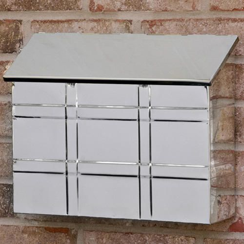 Grid Wall-Mount Mailbox - Polished Stainless Steel