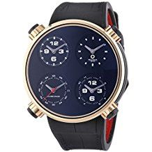MECCANICHE VELOCI Quattro Valvole Vier Stroke Luxus Herren Automatik Uhr mit schwarzem Zifferblatt Analog-Anzeige und schwarz Lederband w145K096519025