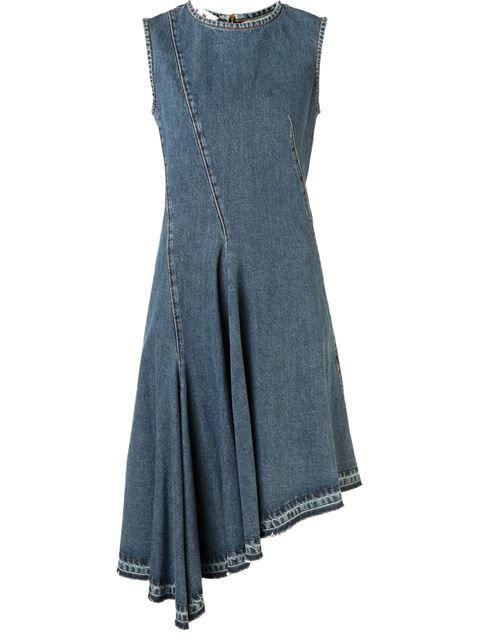 Marni Asymmetrisches Jeans-Kleid