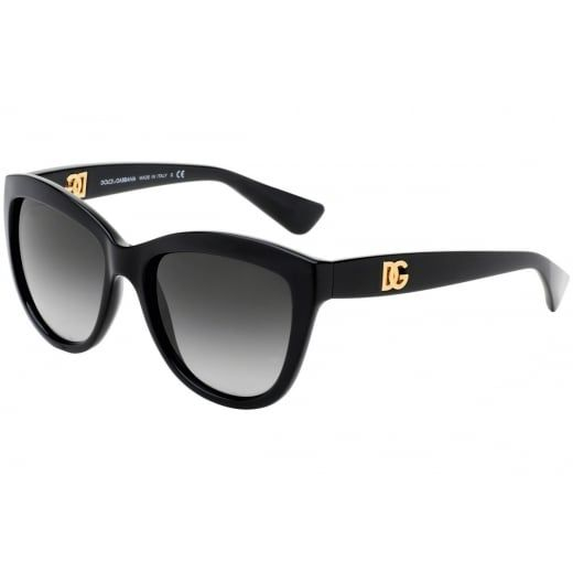 7ce587b1b9f Ex-Display Dolce   Gabbana Ladies Black Cat Eye Sunglasses With Gradient  Lenses. Model
