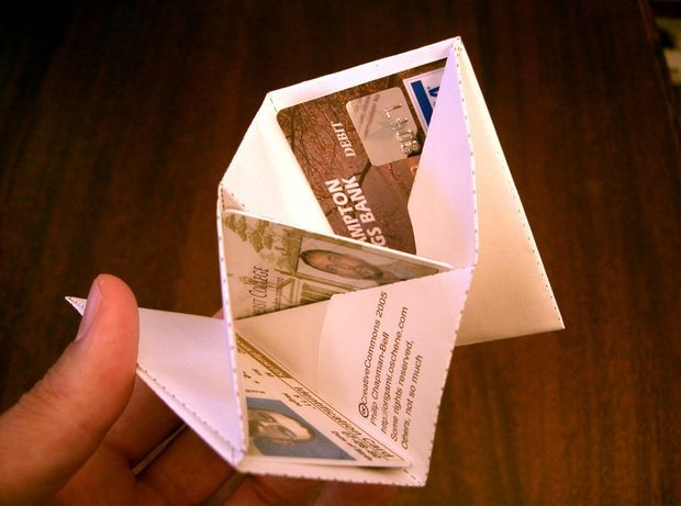Three Card Monte - origami wallet                                                                                                                                                                                 More