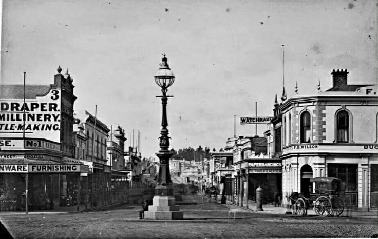 Bridge St looking east,from Sturt St,Ballarat in Victoria. State Library of Victoria.