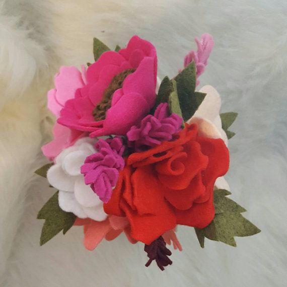 1000 Ideas About Felt Flower Bouquet On Pinterest Felt
