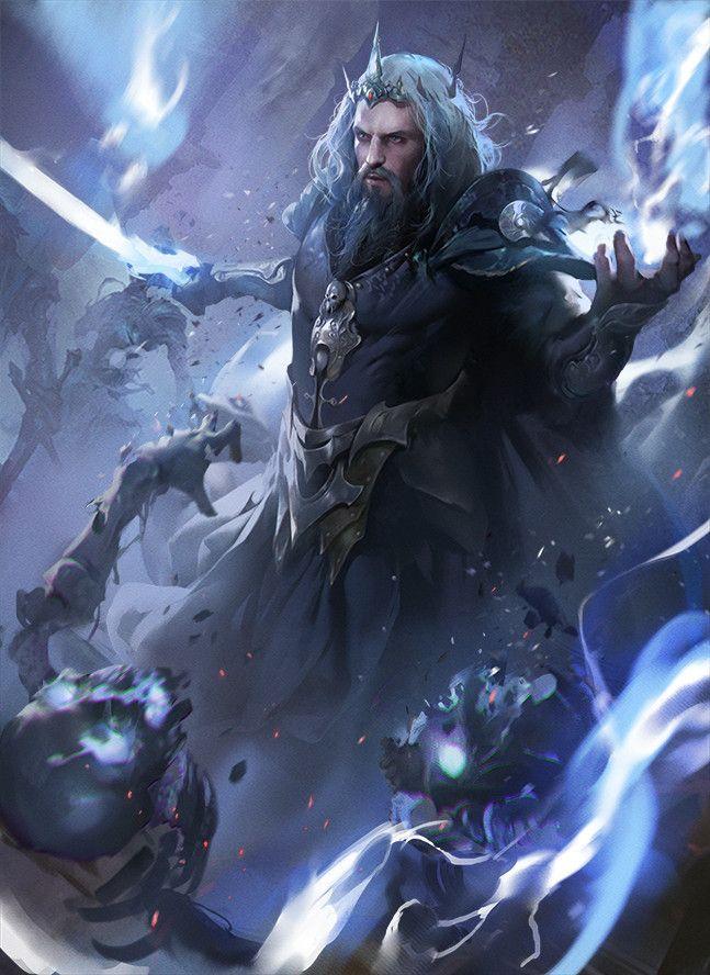 "spassundspiele: ""Hades – fantasy character concept by LI qian """