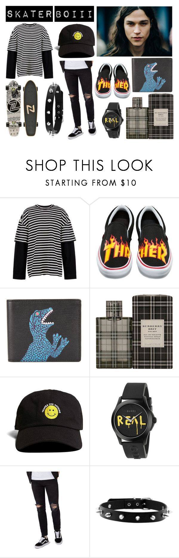 """skater boiii"" by zomxbiee ❤ liked on Polyvore featuring Juun.j, Vans, PS Paul Smith, Burberry, 21 Men, Gucci, Topman, men's fashion and menswear"