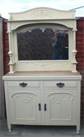 Arts and Crafts vintage sideboard dresser buffet in Farrow & Ball's Bone