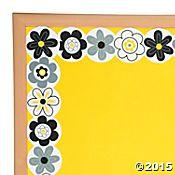 Black & White Flowers Bulletin Board Border