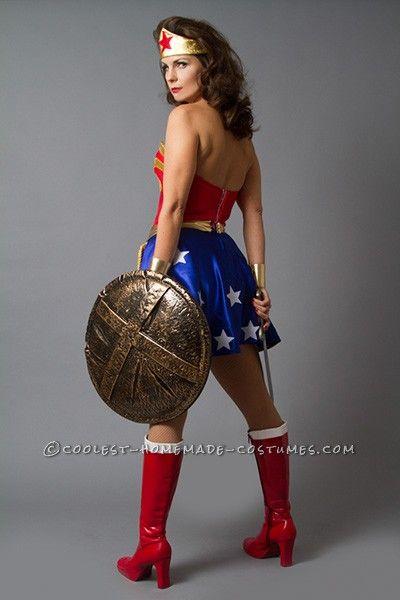 sexy diy wonder woman costume u2013 pin up style coolest halloween costume contest