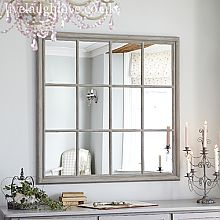 Giant Square Window Mirror - Rustic