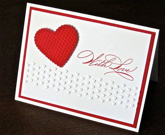 Valentines love greeting card home anniversary card