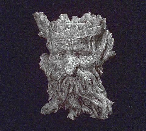 Tree Spirit Greenman Candle Holder Statue