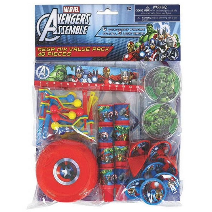 Avengers Mega Mix Value Pack Party Favors [48 Pieces]