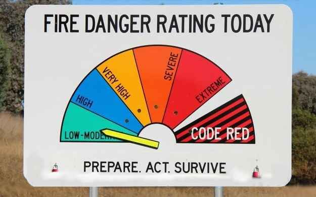 """How is """"high"""" your SECOND-LOWEST fire danger rating?"""
