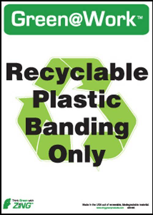 "Eco Label PLASTIC BANDING, Polystyrene Self-Adhesive, 14""Hx10""W, 5-Pk"
