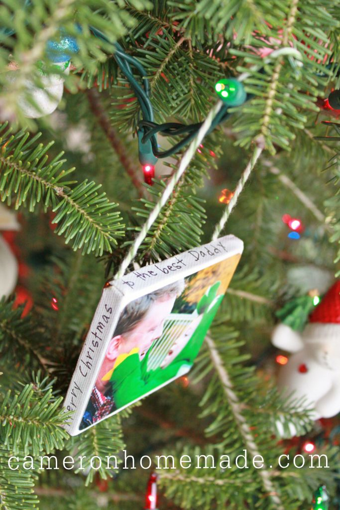 Mini-canvas ornament tutorial...got one as a gift and totally love it!