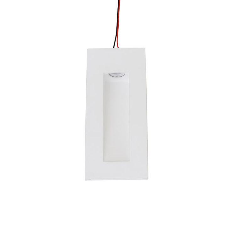 LED 1W Plaster Wall Light - Rectangle