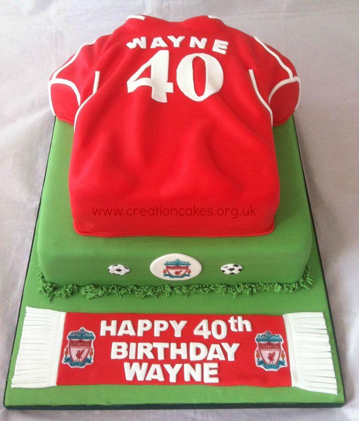 40th Liverpool Football Club Tiered Birthday Cake