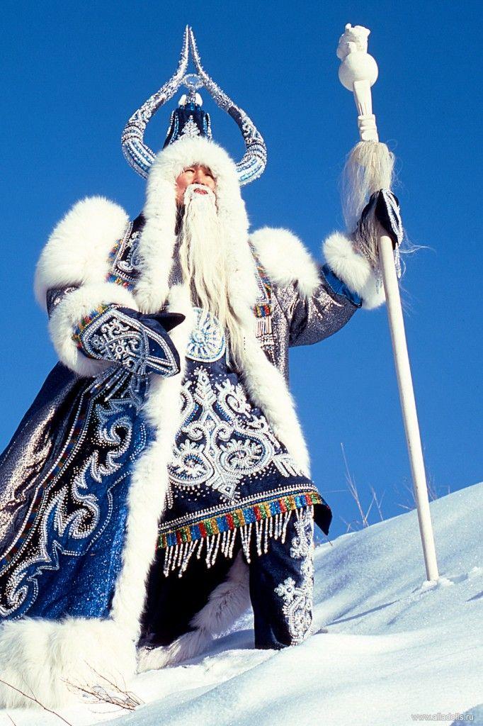 Lord of `permafrost, SIberian Santa. Pole of Cold, Oymyakon village, Siberia, Russia