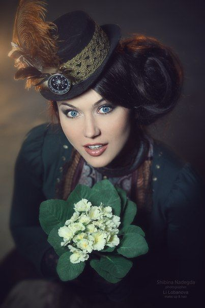 Maria Berseneva, model Shibina Nadegda, photographer Li Lobanova, make up and  #Victorian #Fashion #Steampunk