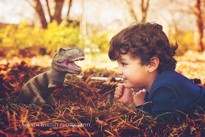 """""""Dreaming in Dinosaurs"""" - Amanda Whitley Photography - Imagination children photography"""
