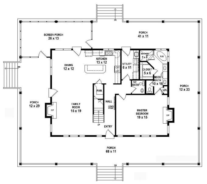 653784 1 5 story 3 bedroom 2 5 bath country farmhouse for 5 bedroom farmhouse floor plans