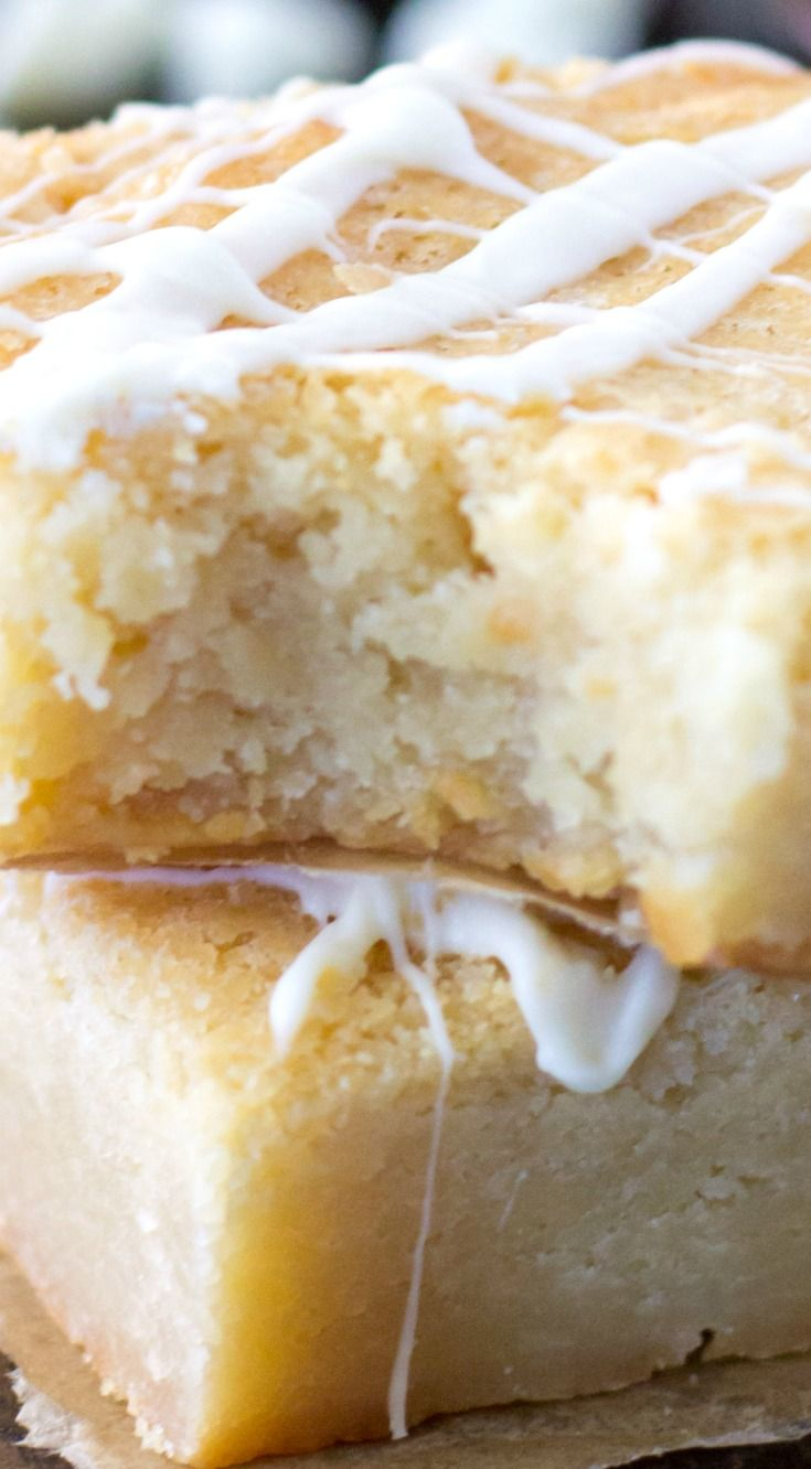 White Chocolate Brownies (Blondies) ~ These chewy white chocolate brownies are made with real, premium white chocolate instead of regular chocolate chips and cocoa powder, and are sure to convert you to the church of white chocolate.