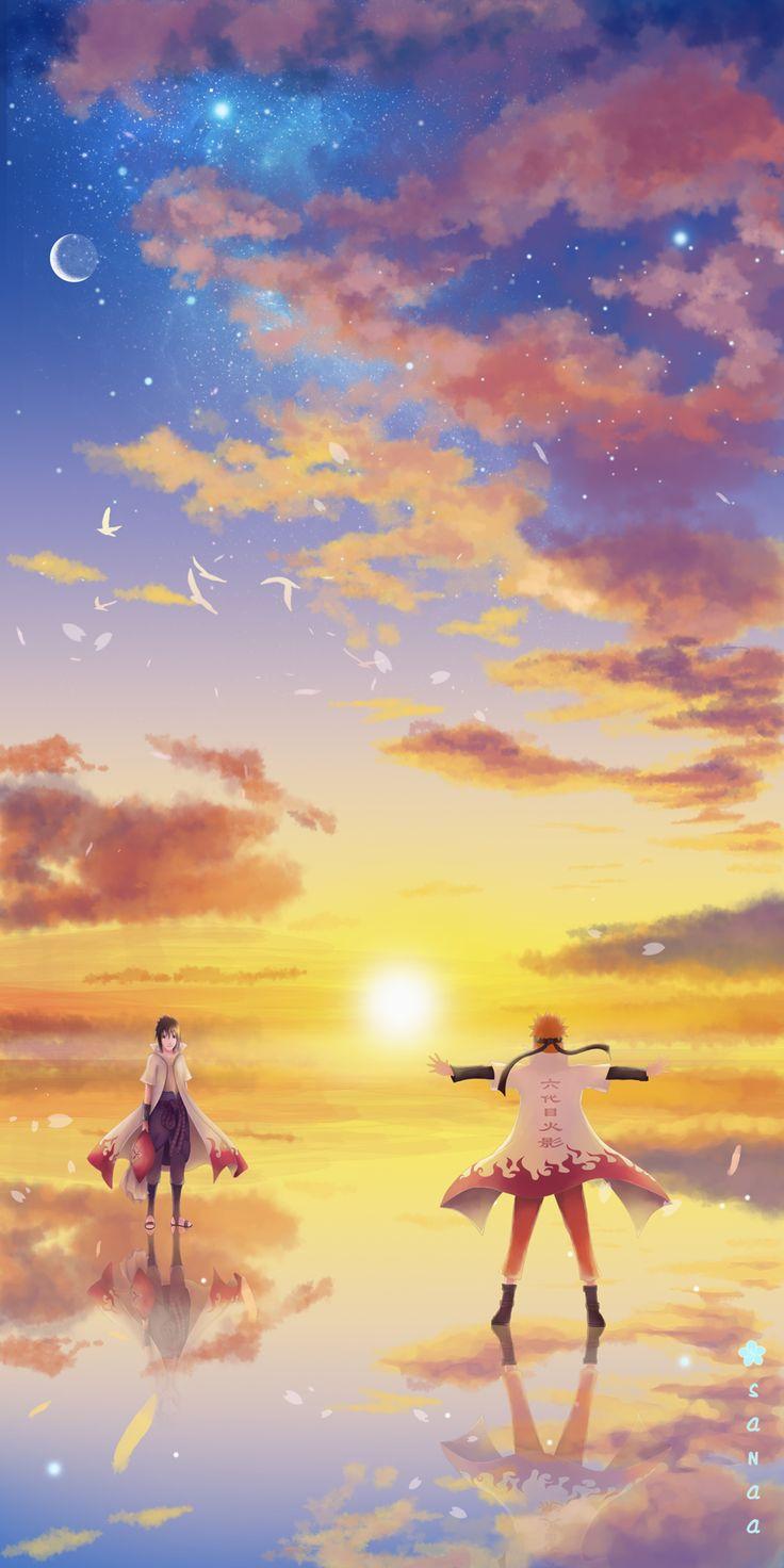 Hokage Naruto and Sasuke