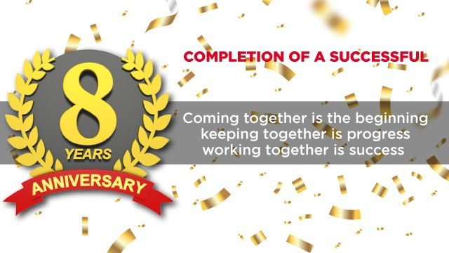 Celebration 8th Anniversary in 2020 | Company anniversary, 8th anniversary,  Anniversary