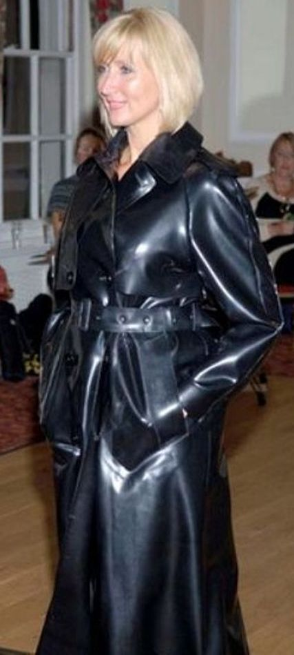 Black Rubber Raincoat.