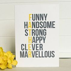 'Marvellous Dad' Father's Day Card                                                                                                                                                                                 More
