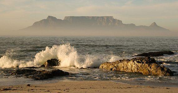 Table Mountain in the mist, from Melkbosstrand © Chris Marais